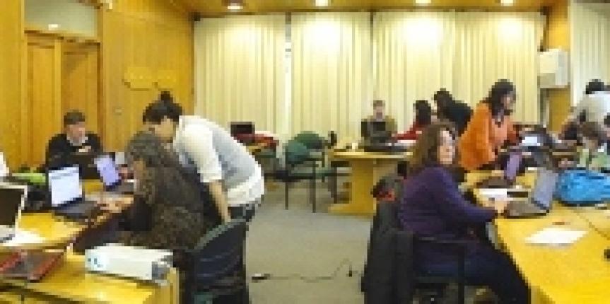 Taller con profesores Kelluwen en Valdivia