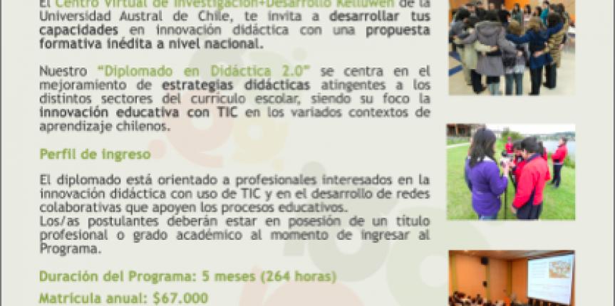 Participa en nuestro Diplomado en Didáctica 2.0